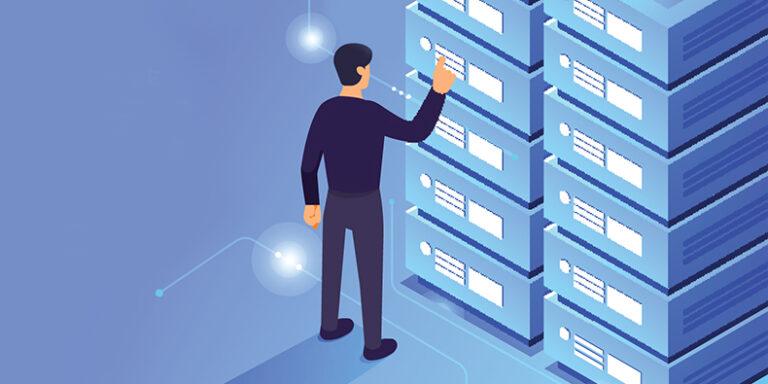 Server stacking illustrataive image