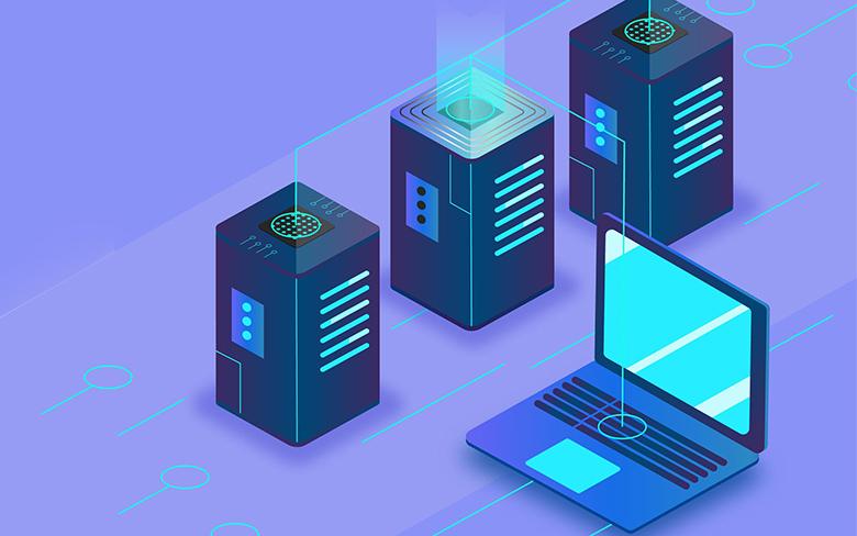 server computer linking illustrative