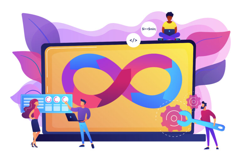 DevOps team concept vector illustration