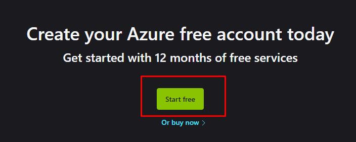 free azure account